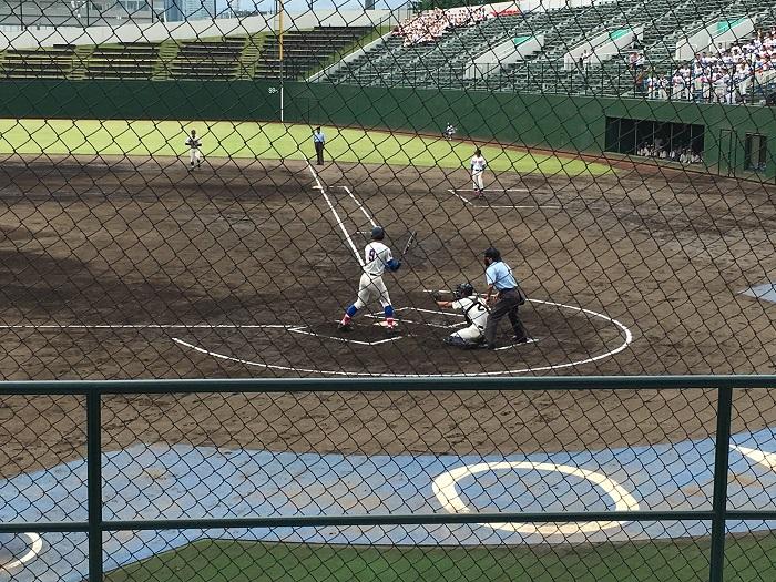 秋季高校野球県大会準々決勝勝利、準決勝進出