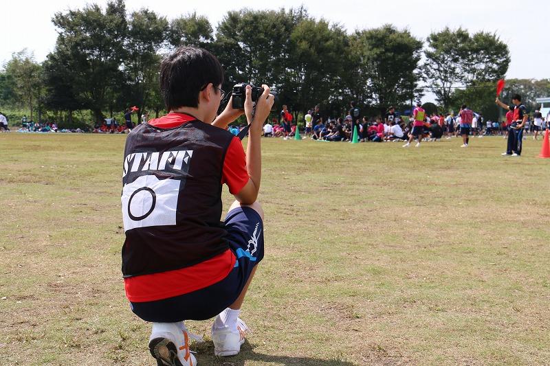 体育祭の写真撮影 by写真部