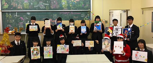 恒例の美術部・漫画研究部合同 クリスマスイラスト発表会