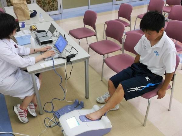 第1回食育指導&ヘモグロビン・骨密度測定開始