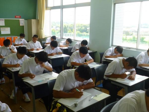第1学年が進研模試総合学力テスト7月を実施しました。