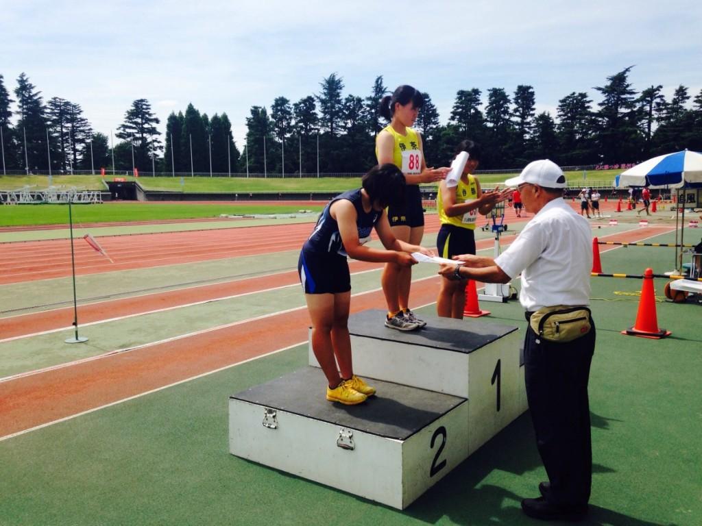 上尾選手権で2種目表彰・1年濱田100mで10秒94