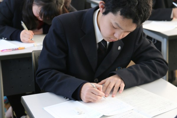 第1学年が進研模試総合学力テスト1月を実施しました。