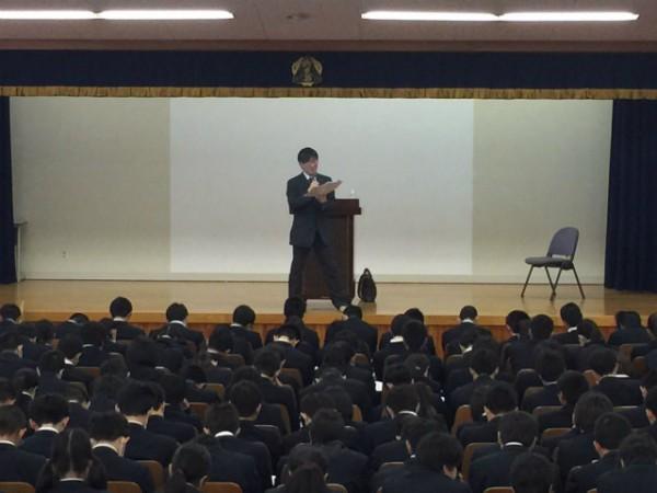 第2学年 小論文ガイダンス(普通科総合進学・食育実践科)