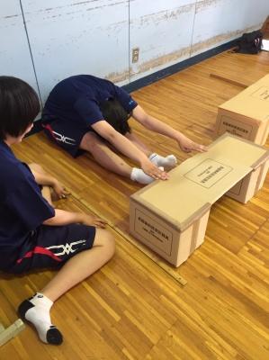全校生徒がスポーツテストを実施