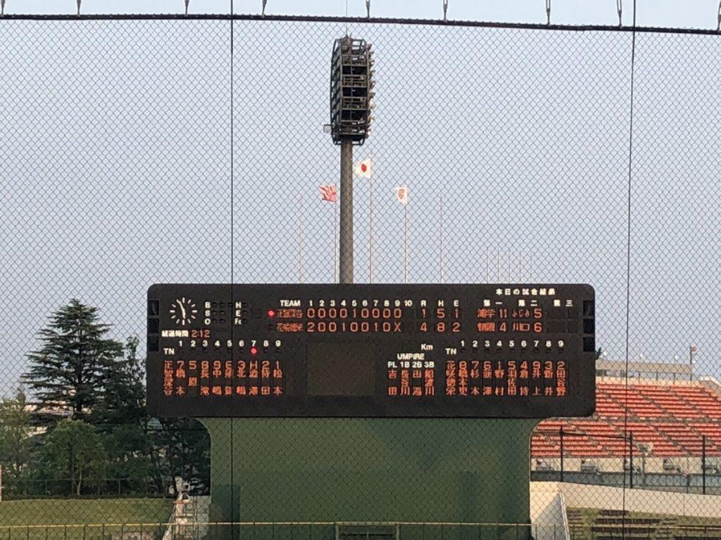 高校野球北埼玉大会準々決勝、野村完投、4年連続4強入り