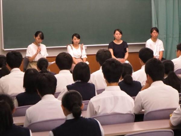 第3学年 卒業生進路講話を実施しました。