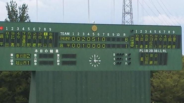 秋季高校野球東部地区予選突破、2試合連続コールド勝ち