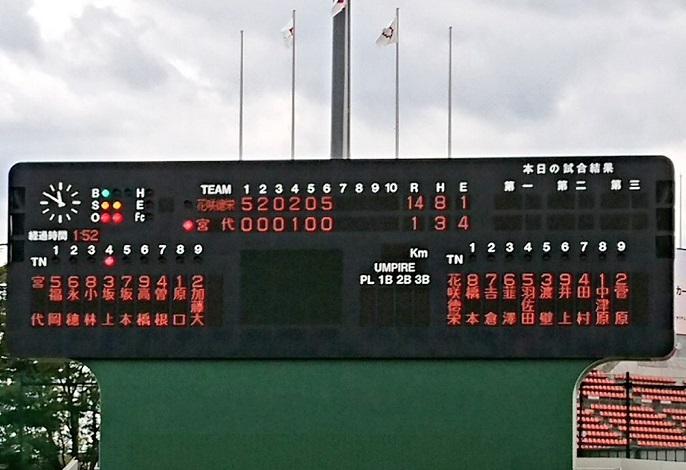 秋季埼玉県高校野球大会初戦 コールド勝ちで好発進