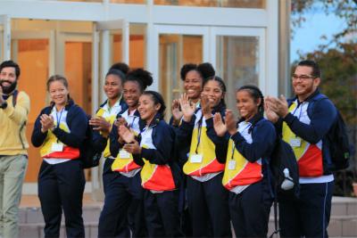 コロンビア共和国女子ラグビーチームが来校