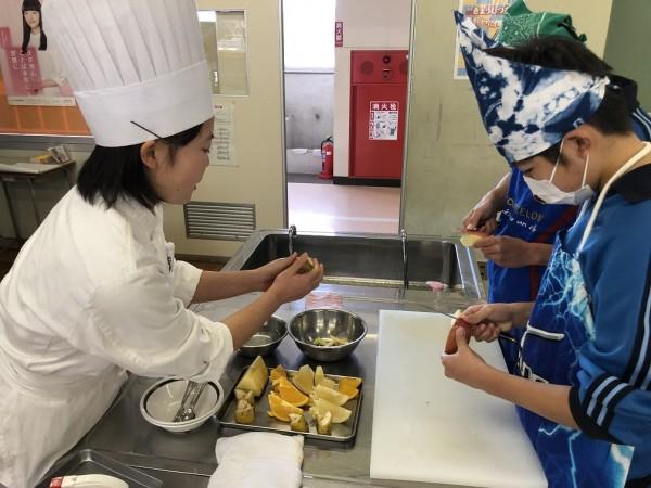 食育実践科1年 百間中学校 出張授業