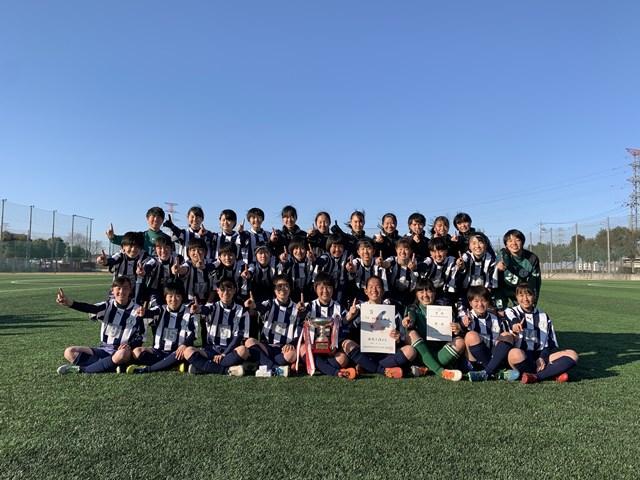 女子サッカー部、県新人大会3連覇★★★