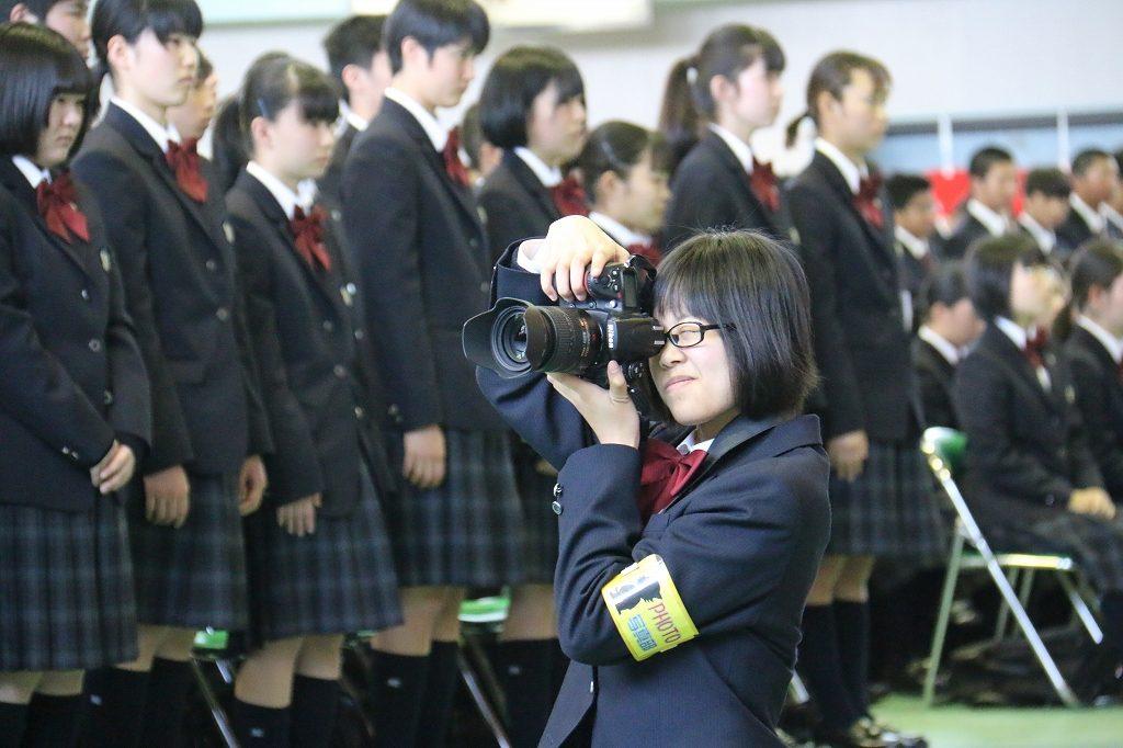入学式を撮影しました