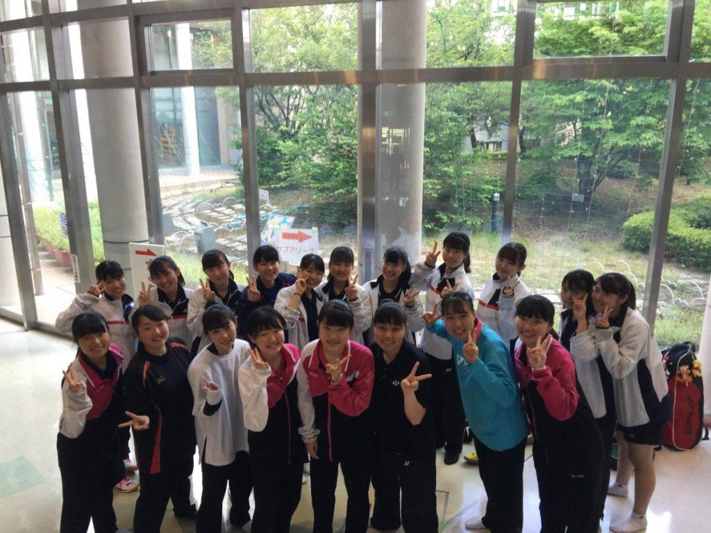 バドミントン 学校総合体育大会埼玉県東部支部予選会個人戦結果