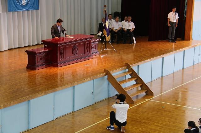 第1学期 終業式を撮影しました