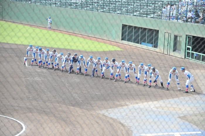 秋季高校野球県大会2回戦 7回コールド勝ちで8強入り