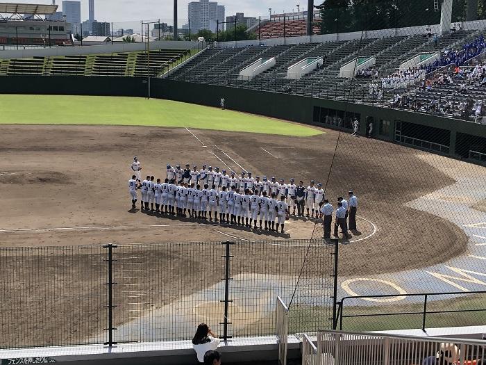 秋季高校野球県大会1回戦 12対2 7回コールド勝ちで16強入り