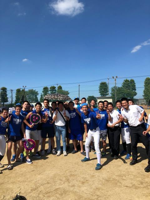 アメリカンフットボール部:野球部の友情応援