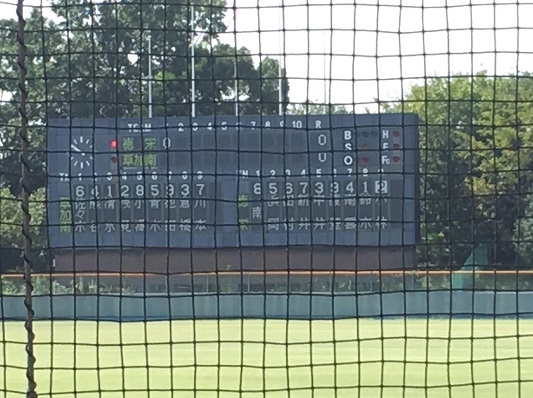 秋季高校野球東部地区大会1回戦 5回コールド勝ち