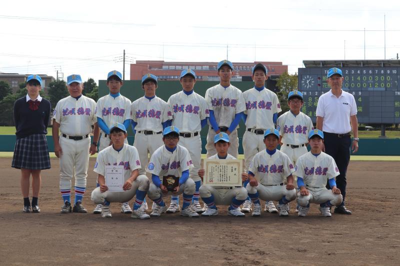 軟式野球部秋季県大会 準優勝