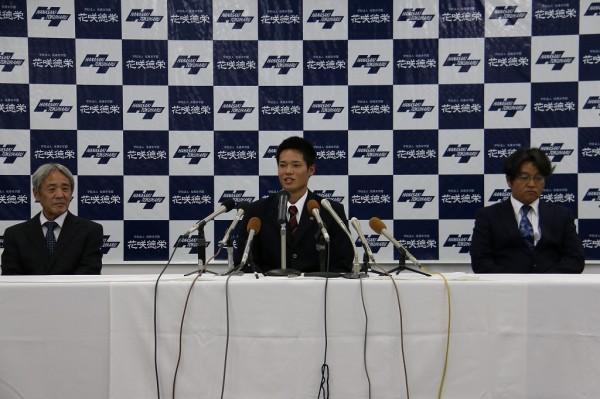 韮澤雄也君 広島からドラフト4位指名