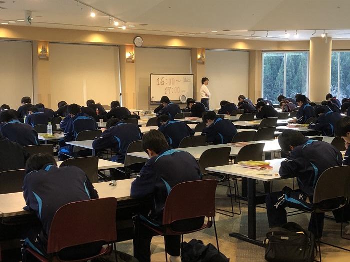 センター試験まで残り40日、第3学年舞子高原センター合宿開始