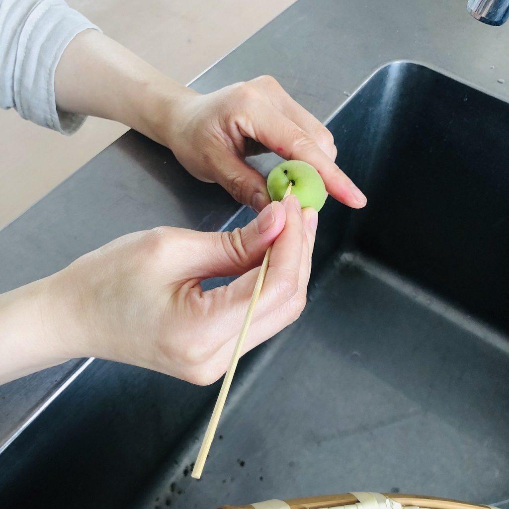 徳栄の梅で梅シロップ作成