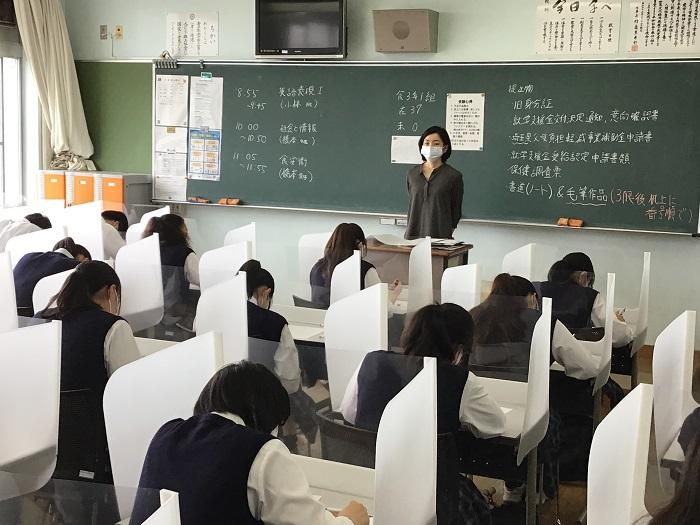 第1学期・期末考査4日目 ~本日から3年生開始、  新入試に向けて着々と準備~