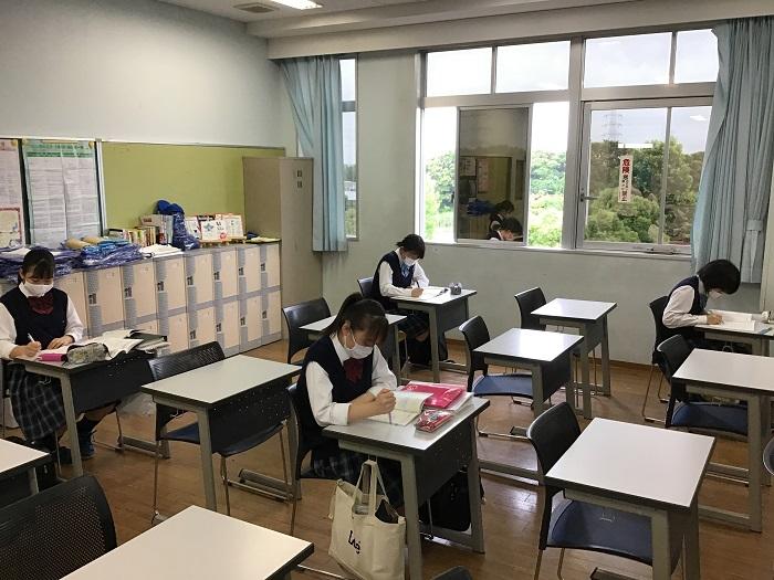 第1学期・期末考査5日前 ~6月23日より学年別に分散で実施~