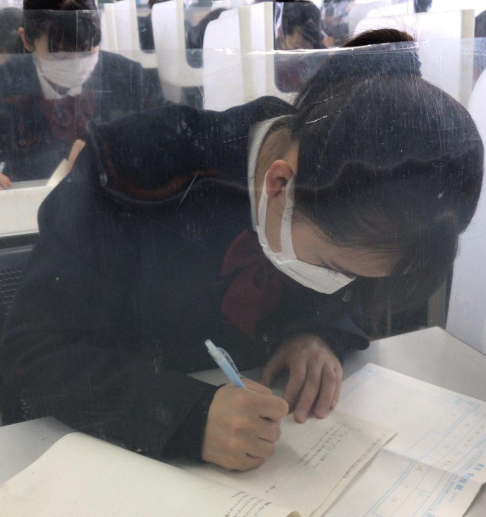1年「ベネッセ総合学力テスト1月」を実施