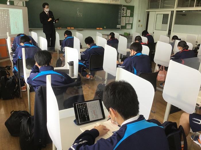 本校のICT教育② ~1年国語(国語総合)・タブレットを用いた授業展開~
