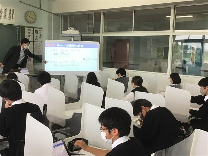 本校のICT教育⑦ 1年放課後補習(第7時限)数学演習・タブレットの活用