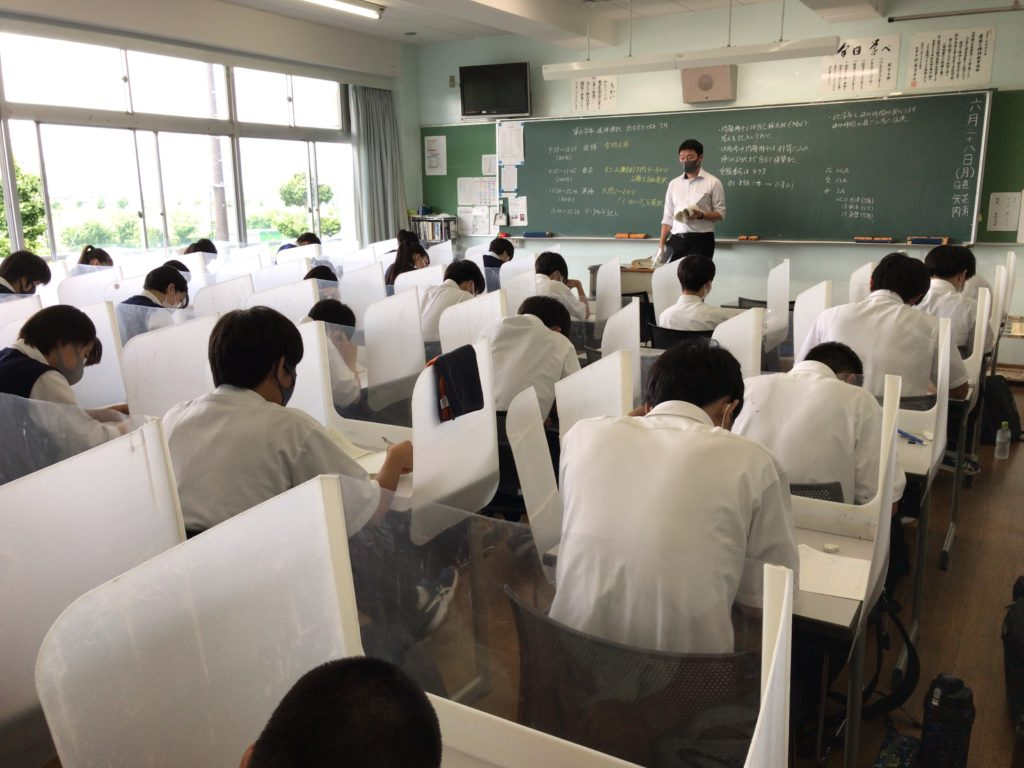 1,2年生対象 進研模試「総合学力テスト」 ~今年度初の校外模試・日頃の努力の成果を発揮し、それぞれの頂を目指す~
