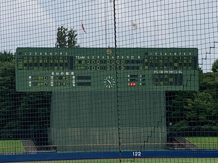 第103回全国高校野球選手権埼玉大会初戦 ~高安・金子好投、澤口・浜岡・味谷・富田のタイムリーヒットなどで8回コールド勝ち~